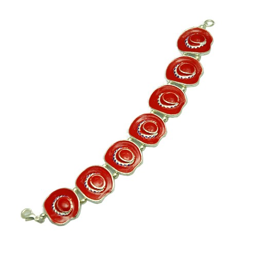 Red Hat Bracelet 7 inch stretchable